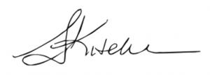 Sarah Kitchen's signature